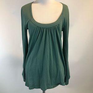 JOIE Rolled Tab Sl Scoop Neck Pima Cotton Shirt